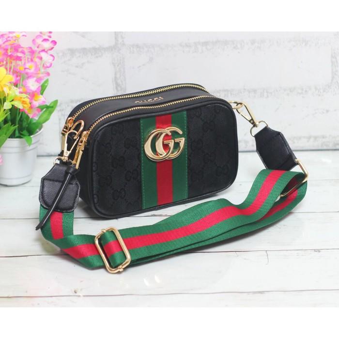 Tas Wanita Import Tas Gucci Snapshot Tas Selempang Murah Kanvas IB - Hitam 4fc40b61a8