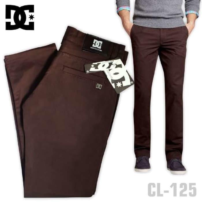 harga Ori celana chino dc panjang pria lelaki laki-laki2 cowok coklat Tokopedia.com
