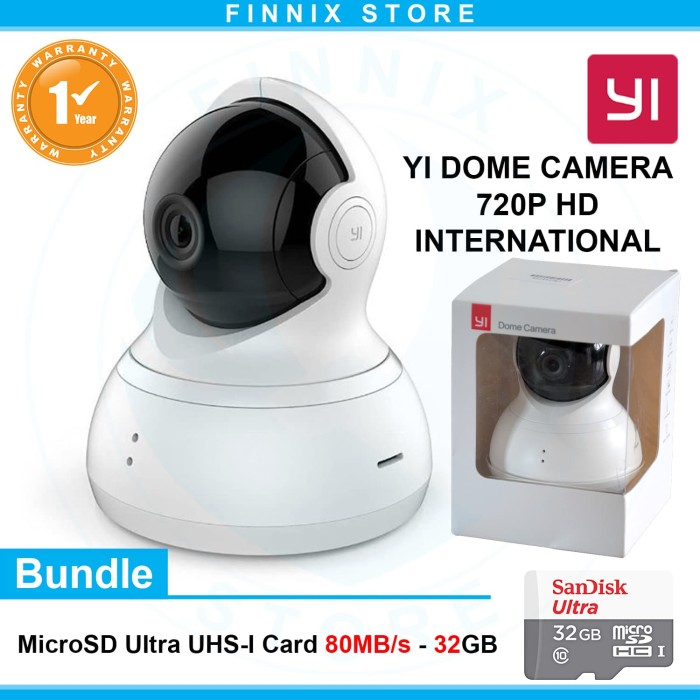 harga Xiaomi yi dome camera 720p smart cctv ip camera bundle sandisk 32gb Tokopedia.com