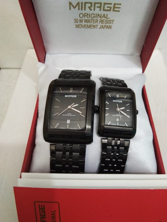 Jam tangan Couple mirage stainless steel original