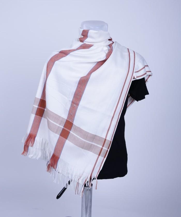 Sorban Arafat Hijau / Sorban Kashmiri / Sorban Arab - Putih Merah