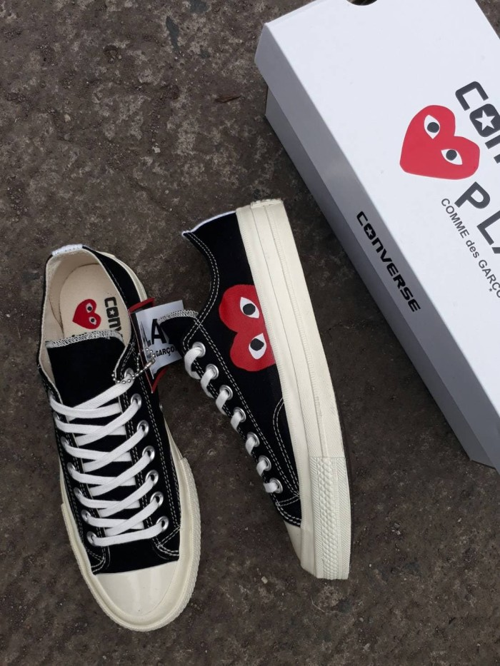 1a8416a31089 Jual CONVERSE 70S LOW PLAY CDG COMME DES GARCONS SIZE 37-44 - Hitam ...