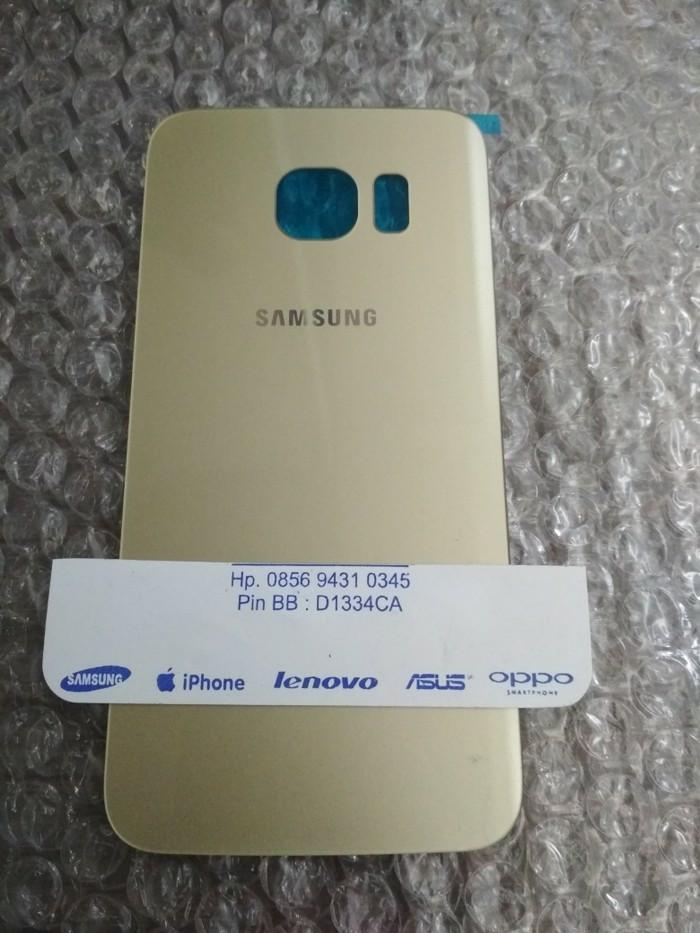 Backcover Tutup Belakang / tutup casing Samsung Galaxy S6 Edge OEM - Hitam