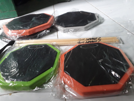 harga Promo harga gila !!! pad drum 8 inch murah include stick Tokopedia.com