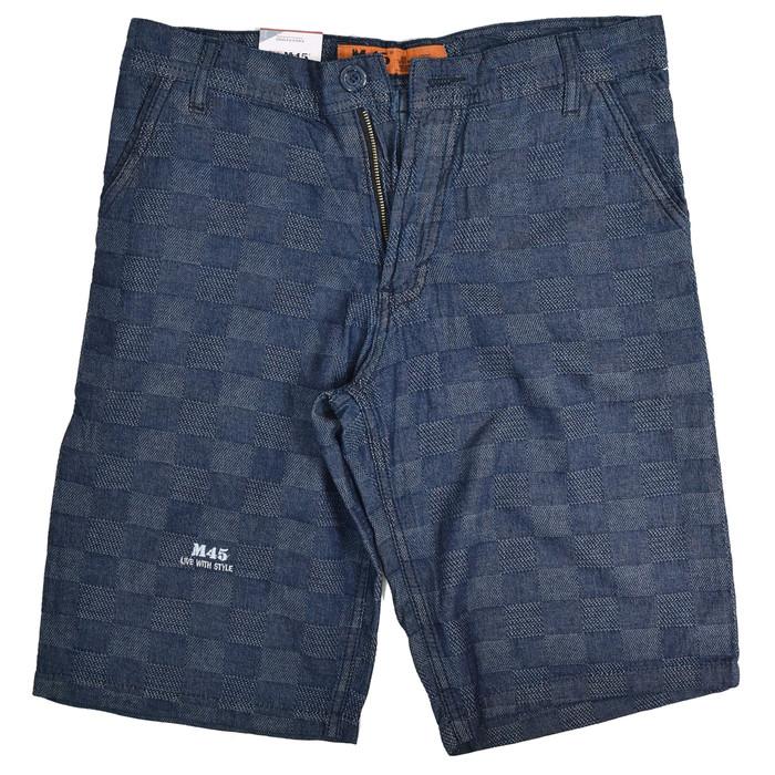 harga Celana pendek casual/santai pria bahan blue jeans motif kotak kecil Tokopedia.com
