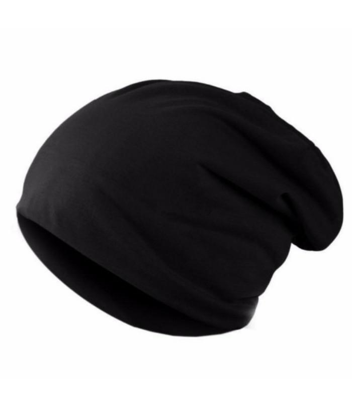 MJ Topi Kupluk Pria Beanie Hat - Hitam