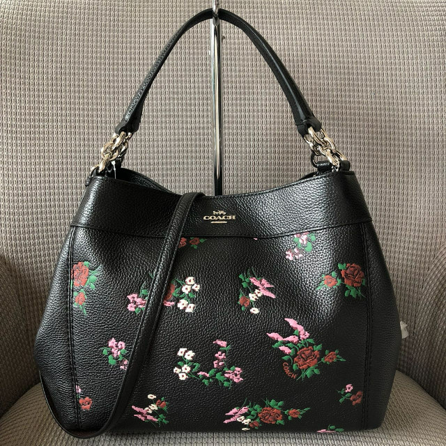 Jual Coach Small Lexy Shoulder Bag with Cross Stitch Floral Leather ... b958b68719