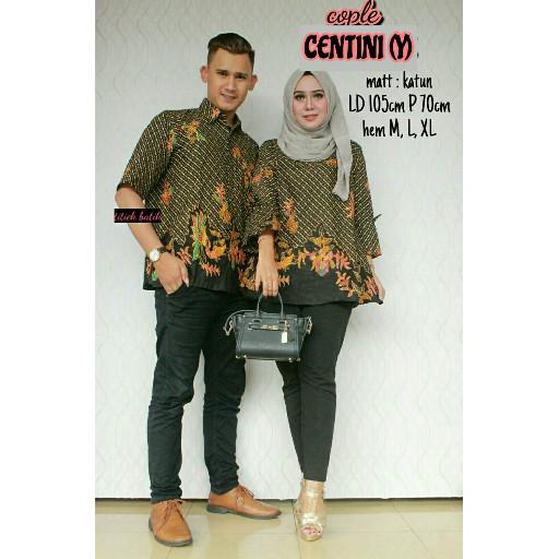 harga Baju batik sarimbit couple centini Tokopedia.com
