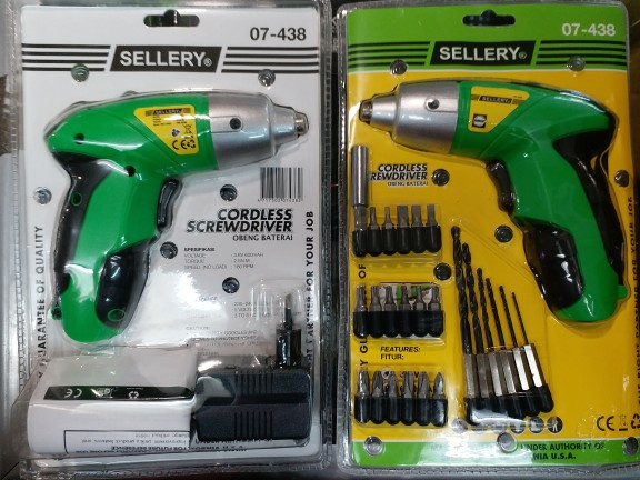 harga Mesin bor obeng portable charger / cordless screwdriver sellery Tokopedia.com