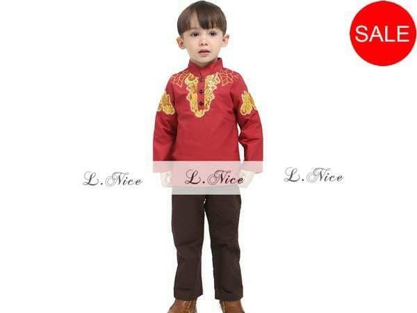 harga L.nice 85 baju koko merah anak kecil muslim lebaran kostum india Tokopedia.com