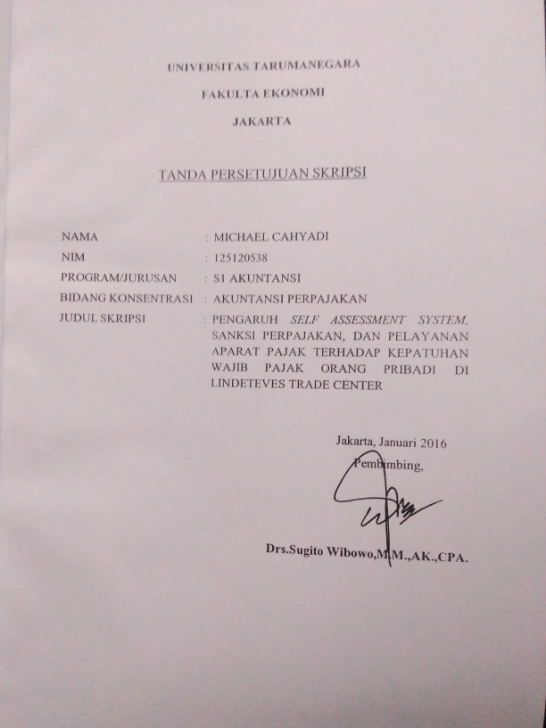 Jual Buku Contoh Skripsi Akuntansi Perpajakan Jakarta Barat