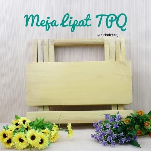 Foto Produk Meja Lipat Kayu Polos TPA/ Meja Belajar Lipat / Rekal Rehal Quran dari Nabawi Jakarta