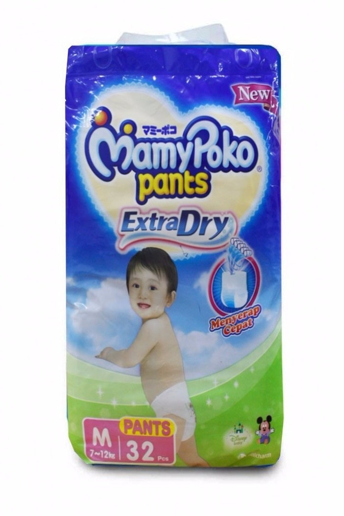 Popok Celana Bayi Mamy Poko Pants Extra Dry M 32 Diapers
