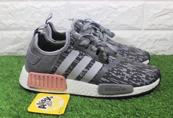 hot sale online a8aea 77504 Jual Sepatu Adidas NMD R1 Heather Grey Raw Pink - Alisyashoes ...
