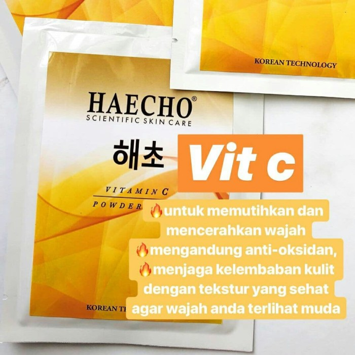 harga Haecho masker serbuk - vitamin c / vitamin c powder mask 25 gr korea Tokopedia.com