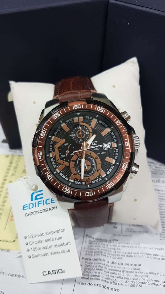 Tempat Jual Jam Tangan Casio Beside Bem 506 Black Dial Silver Brown Lee Cooper Pria Stainless Steel Strap Lc 25g E Harga Edifice Ef 539 Leather Super Oribm 540000
