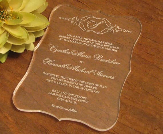 Undangan Pernikahan Akrilik Undangan Akrilik  Cm