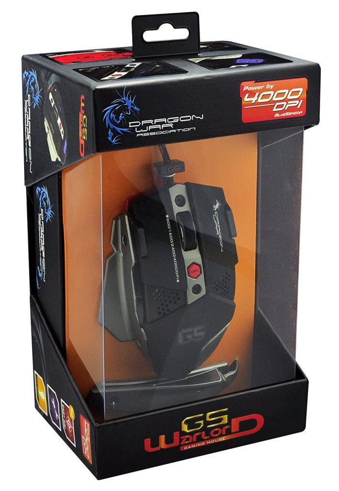 Foto Produk Dragonwar G5 Warlord Professional 4000dpi Gaming Mouse Blue Sensor dari RazzaaqStore
