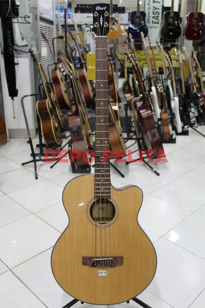 harga Gitar cort ab850f - natural acoustic electric bass Tokopedia.com