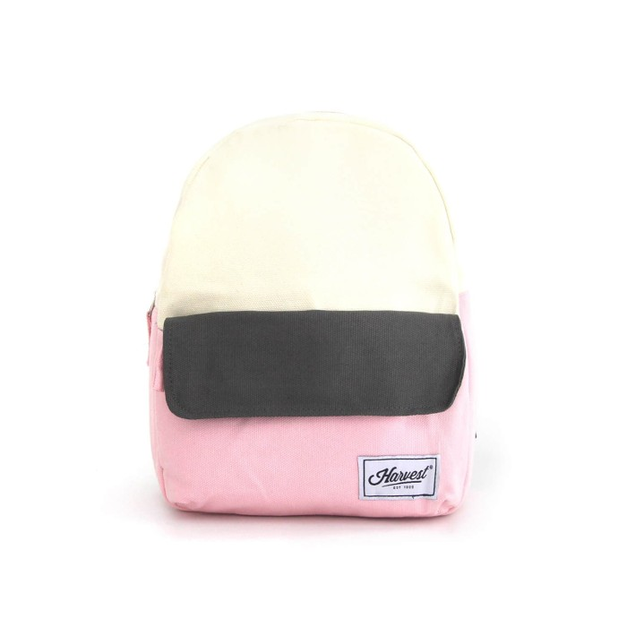 Backpack kecil harvest / tas ransel gaya mini 3 color origins pink