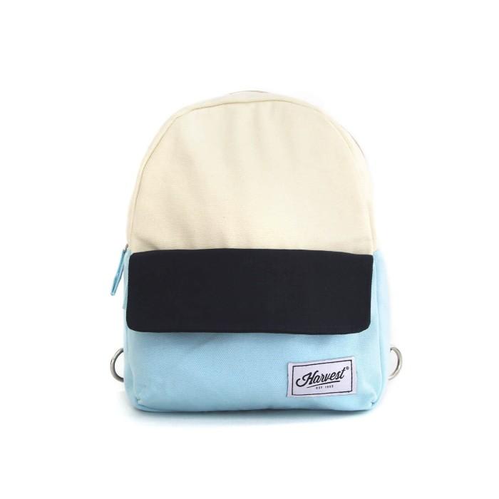 Backpack kecil harvest / tas ransel gaya mini 3 color origins navy