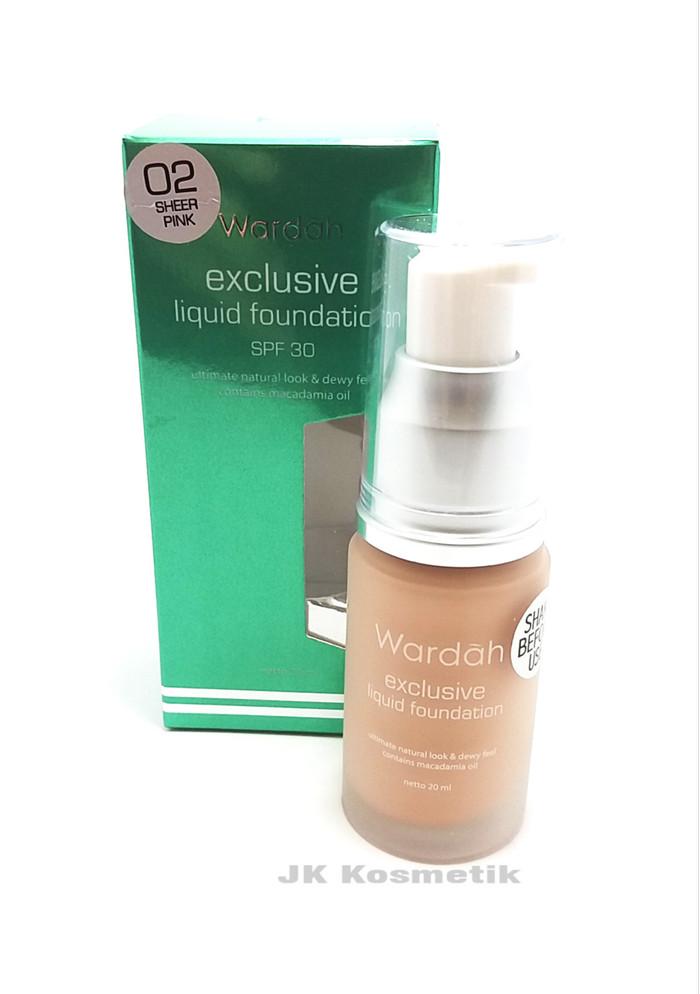 Wardah EXCLUSIVE Liquid Foundation 02 Sheer Pink 20 ml