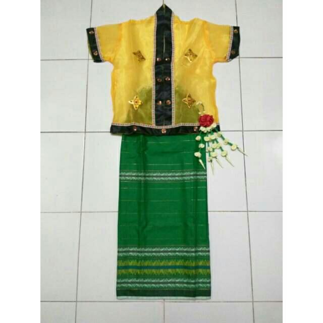 Foto Produk Baju Kostum Karnaval Anak Adat Sulawesi Selatan Baju Bodo Makassar dari ChalMiCha Store
