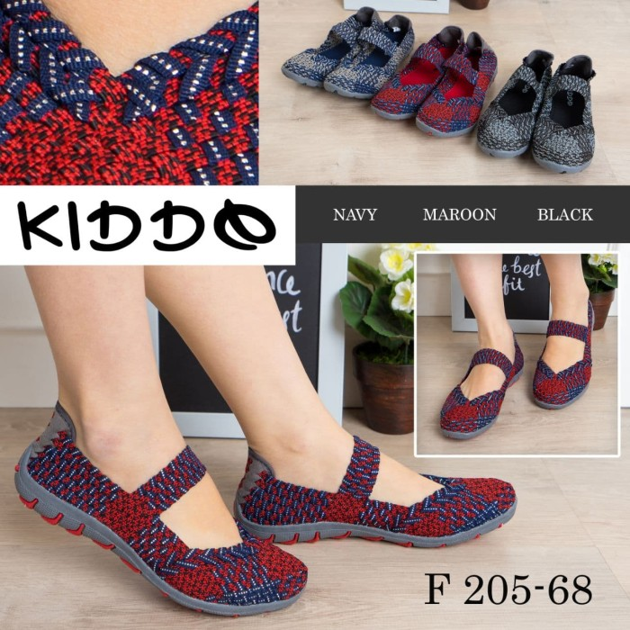 harga Kiddo flat f205-68 / sepatu wanita / sepatu rajut anyam kiddo Tokopedia.com