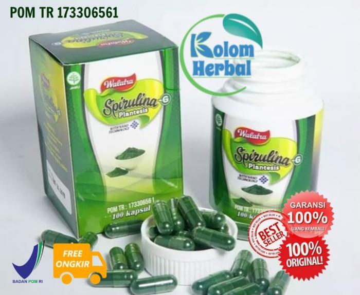 Foto Produk Walatra Spirulina -G Platensis Kapsul   100% Spirulina Asli dari Kolom Herbal