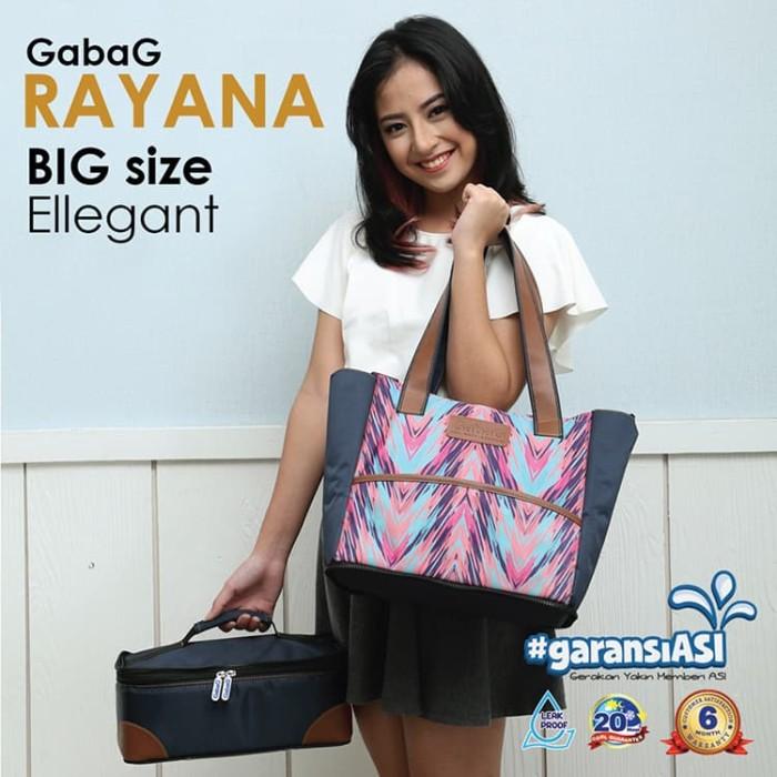 Gabag rayana diaper bag 2 in 1 cooler bag - totte bag - tas asi ibu