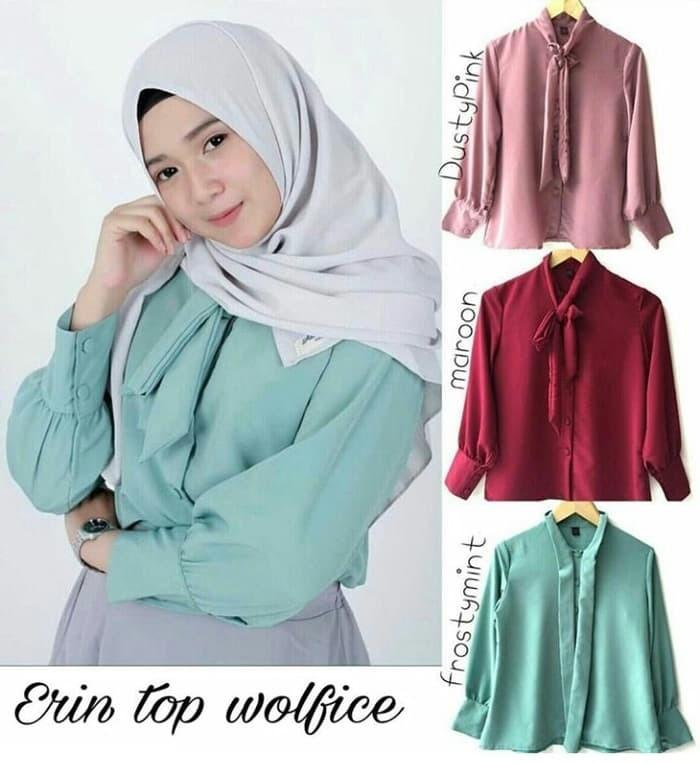 ... harga Best seller baju atasan blouse tunik wanita baju muslim blus  muslim Tokopedia.com eaab9fae81