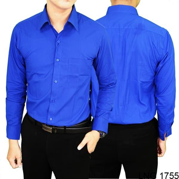 Kemeja formal pria regular fit lng 1755 - biru l