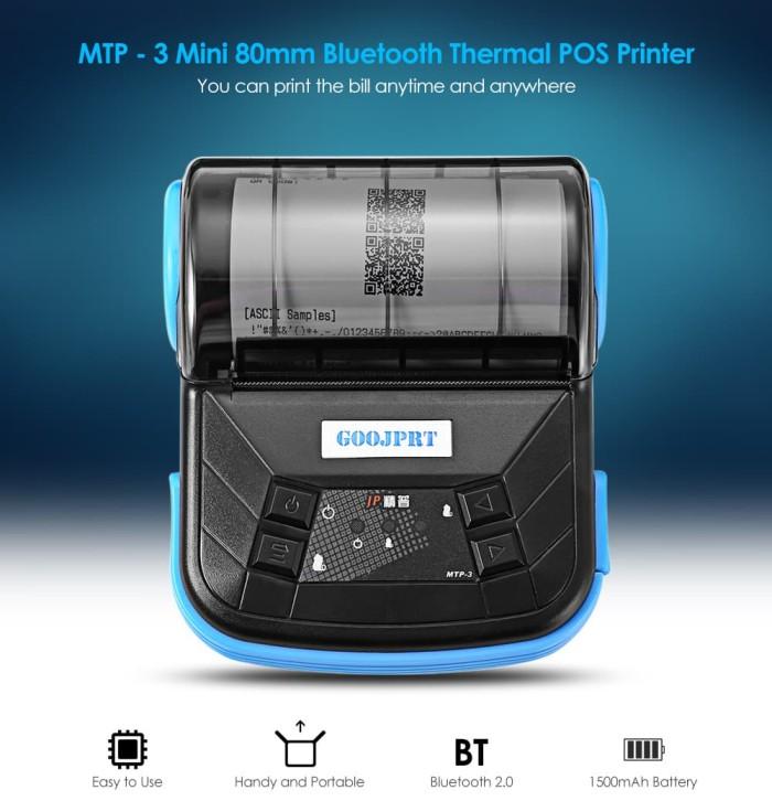 harga Portable handy printer bluetooth thermal pos label barcode 80mm mtpiii Tokopedia.com