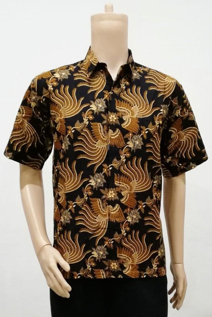 harga Kemeja hem atasan baju seragam pria batik 2224 coklat xxl big size Tokopedia.com