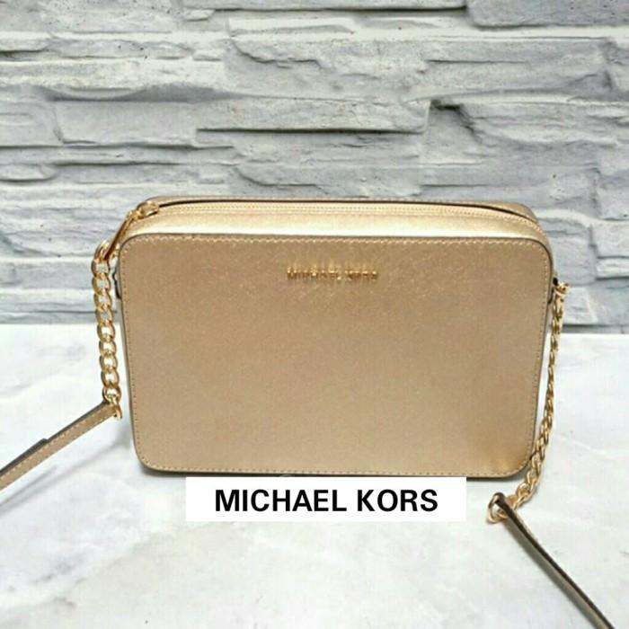 e6e11476561cbd Jual TAS MICHAEL KORS JET SET EW LARGE CROSSBODY PALE GOLD ORIGINAL ...