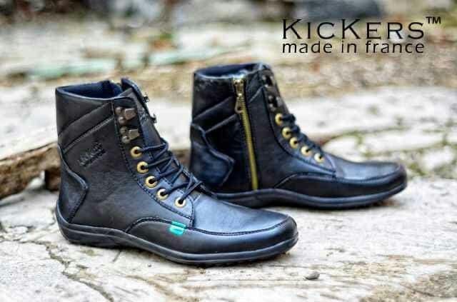 Jual sepatu boots pria kickers ziper original premium 2 warna 39-44 ... d2d31d93c6