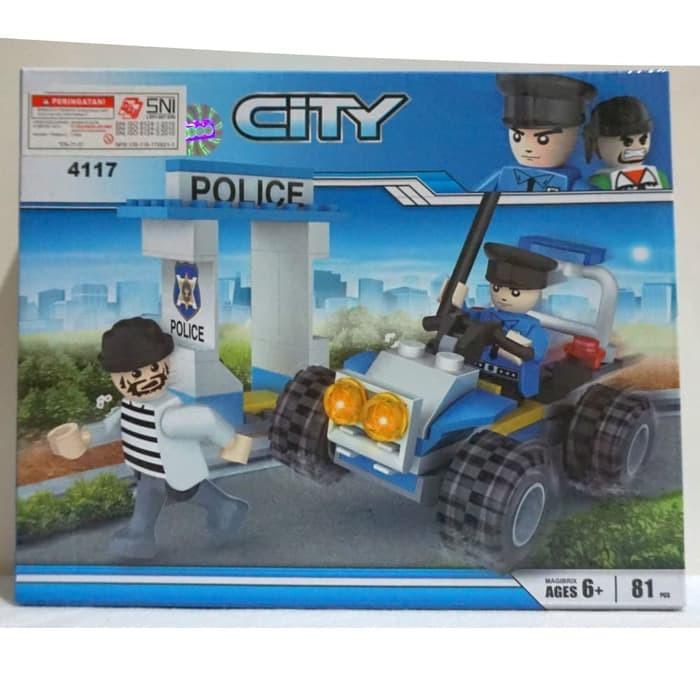 Jual Lego City Mobil Polisi Dengan Figure Dan Diorama Cogo 4117