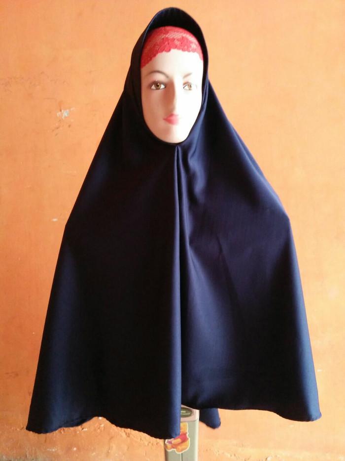 Foto Produk Hijab/Jilbab/kerudung wanita/Khimar Pet Antem - Navy dari shofia shop01