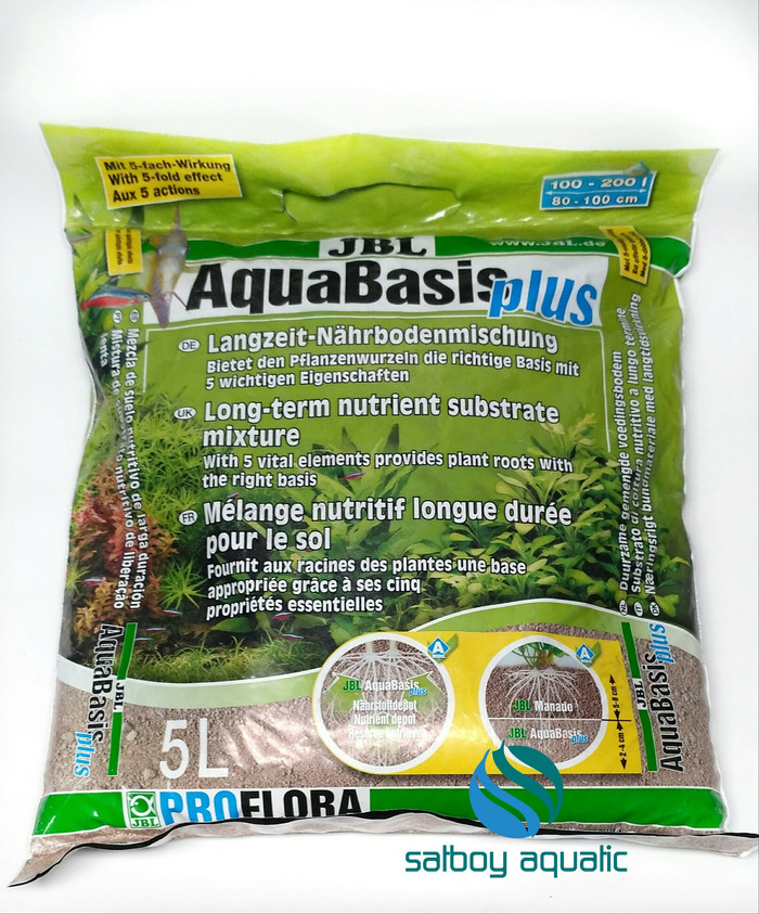 Jual pupuk dasar aquascape - jbl aquabasis plus 5lt (+-5 ...