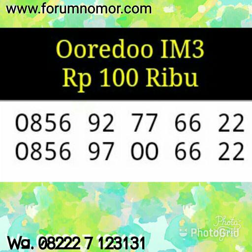 Nomor Cantik Indosat Im3 Seri Triple AA 00 66 22_0856 92 00 66 22 Hoki