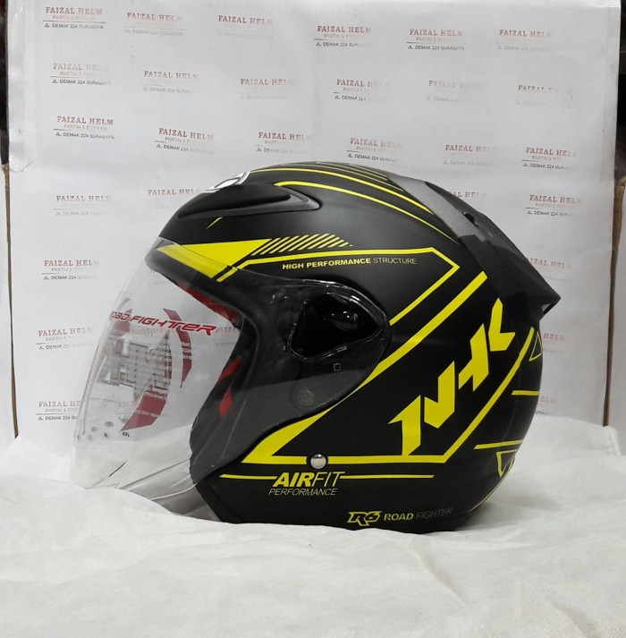 Foto Produk NHK R6 Air Fit Black Doff Yellow dari faizal.helm