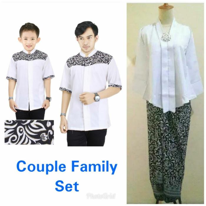 harga Family set baju koko bapak anak dan stelan kebaya nuraini rok lilit Tokopedia.com