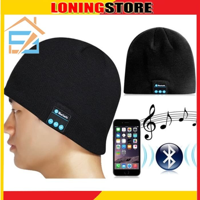 harga Kupluk bluetooth knit beanie with hands-free calls Tokopedia.com