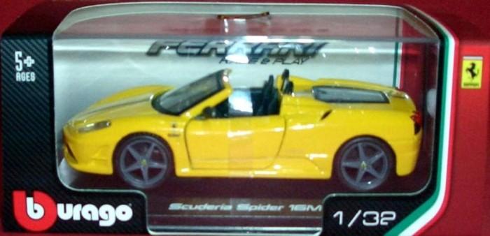 harga Diecast bburago 1:32 - ferrari scuderia spider 16m kuning Tokopedia.com