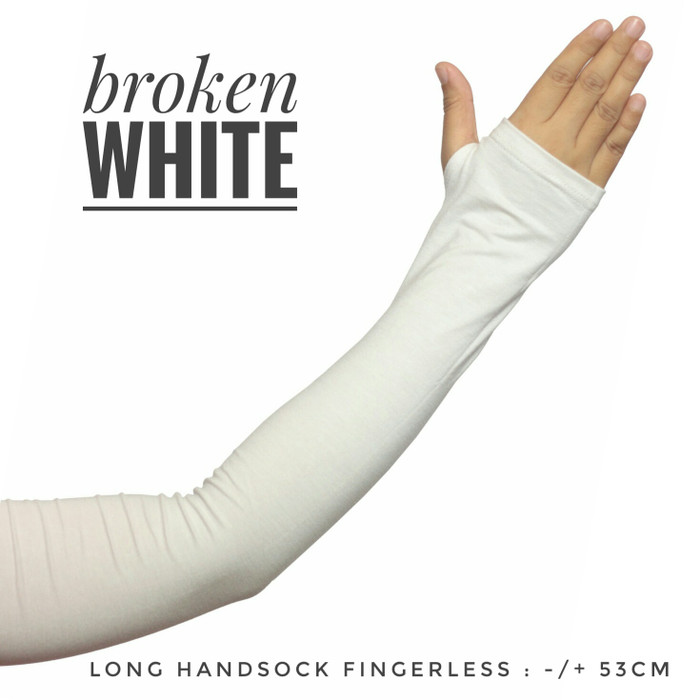 Manset tangan jempol selengan long handsock fingerless arm sleeve