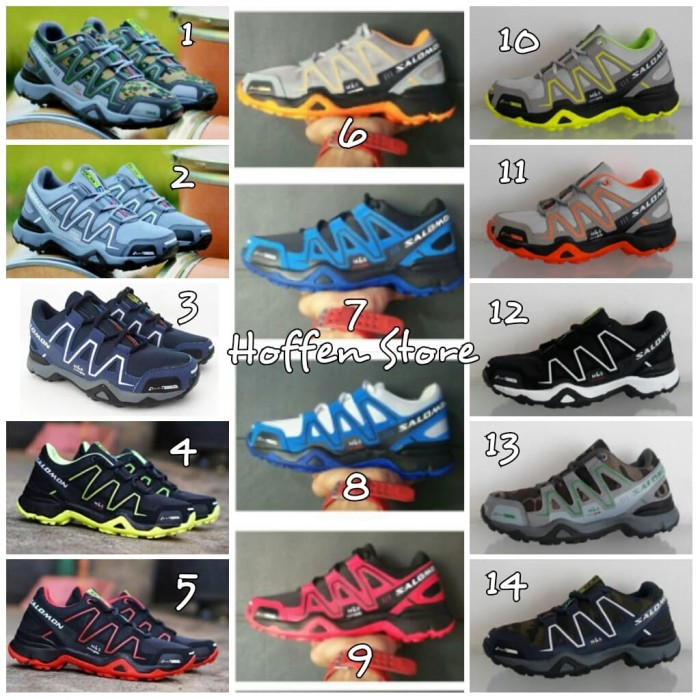 SEPATU SALOMON OUTDOOR TACTICAL HIKING RUNNING JOGGING SPORT COWOK NEW -  PHOTOGRID B 8630c60145
