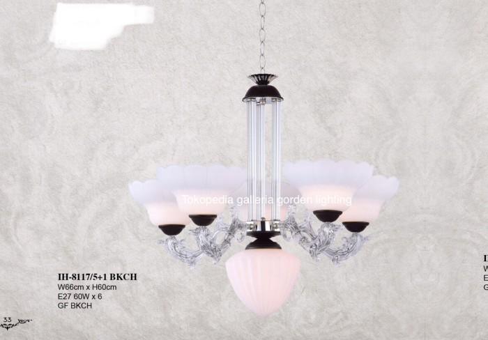 Jual Lampu Gantung Hias Dekorasi Ruang Tamu Minimalis 8117 5 1 Ch Dki Jakarta Galleria Gorden Lighting Tokopedia
