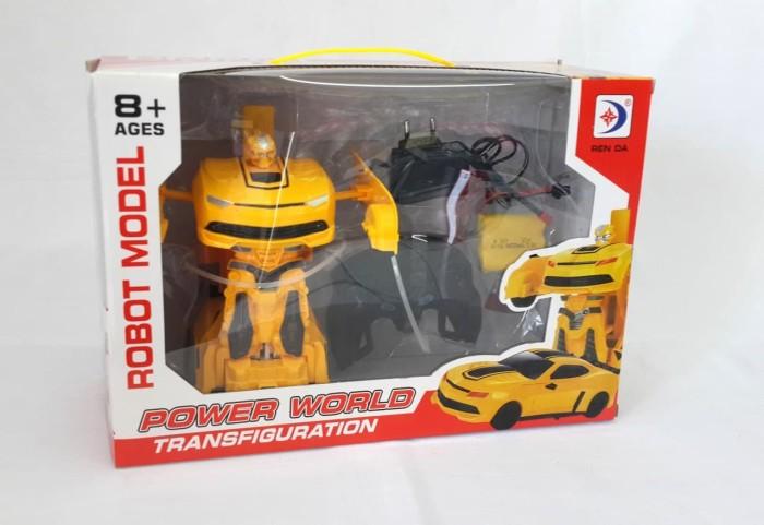 Mainan Mobil Remote Control Mobil Jadi Robot Transformer