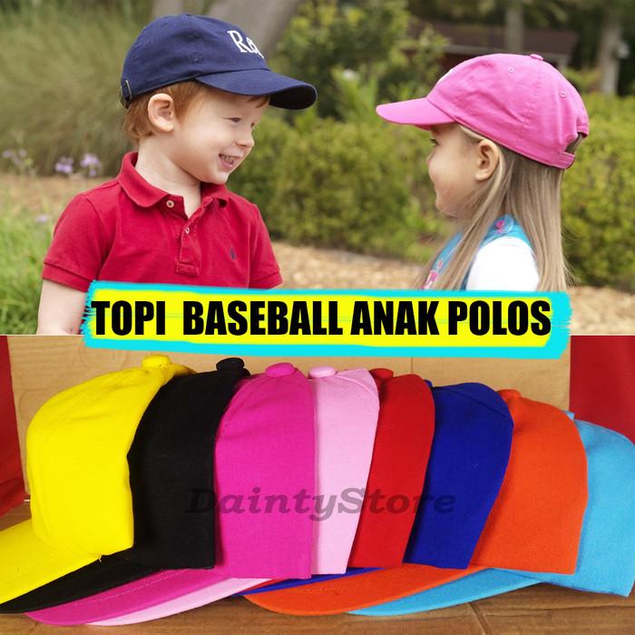 Jual Topi Polos Baseball Anak-Anak Balita TK Murah Grosir Satuan ... c352628ff9