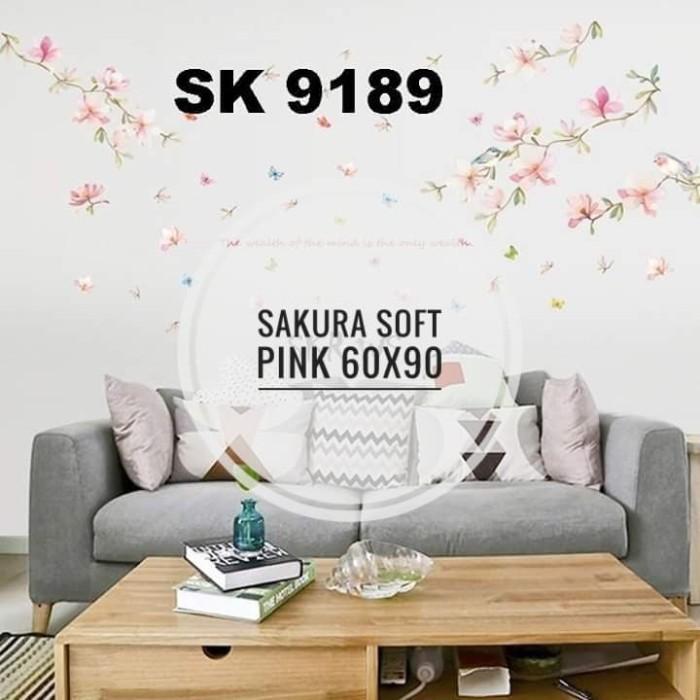 jual wall sticker 60x90 sk9189 sakura - kota kediri - sabrina